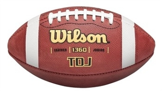 Wilson TDJ Leather Youth Game Football
